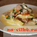 Картофель с говядиной в духовке — рецепт приготовления в молоке