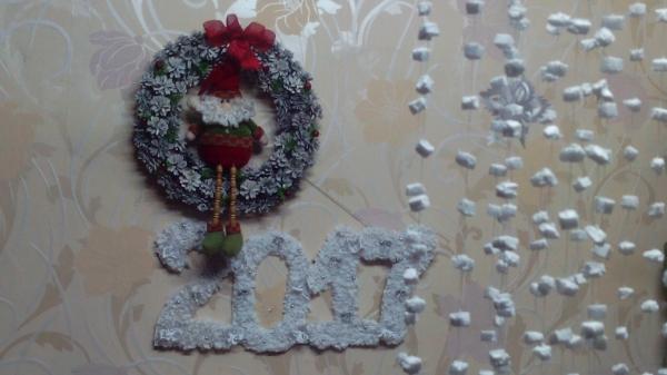 Новогоднее украшение. Рождественский венок из шишек на Конкурс с Леонардо, как сделать новогодний венок
