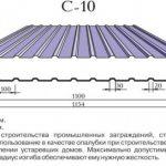 Технические характеристики профнастила С10