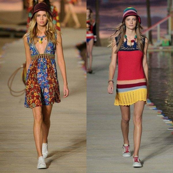 ff73c0ea6f6 Хит сезона – платья в пол. Но и коротеньких моделей тоже на последнем  показе мод было предостаточно