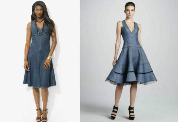 75981de989785ee Джинсовое платье-бюстье выглядит невероятно сексуально и привлекательно.  Это отличный выбор для веселой вечеринки или романтичного свидания.