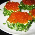 Бутерброд с красной икрой и свежей зеленью — Кулинария для мужчин