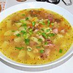 Картофельно-фасолевый суп с копченостями – пошаговый фоторецепт