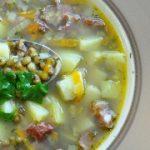Суп с копченостями и машем