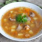 Картофельно-фасолевый суп с куриной печенью — пошаговый фоторецепт