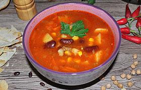 Томатный суп с фасолью по-мексикански – пошаговый фоторецепт