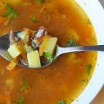Суп с килькой в томатном соусе – пошаговый фоторецепт