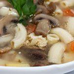 Грибной суп с макаронами – рецепт с фото