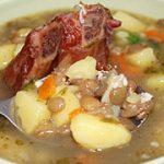 Суп из чечевицы с копченостями — рецепт