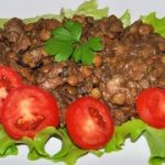 Чечевица с мясом и грибами – пошаговый фоторецепт