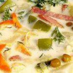 Овощной суп с ветчиной и сыром — рецепт