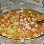 Суп с колбасой — пошаговый фоторецепт
