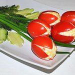 Закуска из помидоров «тюльпаны» — пошаговый фоторецепт