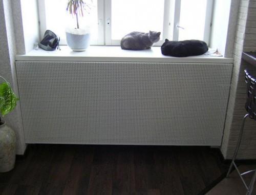 Короб на радиатор отопления для защиты, увеличения теплоотдачи и декора