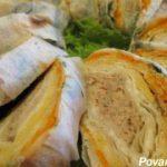Запеченный рулет из лаваша с начинкой — пошаговый рецепт