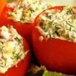 Фаршированные помидоры — рецепт мясной закуски