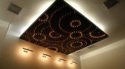 Красивые и необычные парящие натяжные потолки