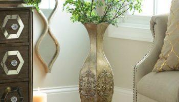 Декоративные напольные вазы в интерьере – роскошное украшение