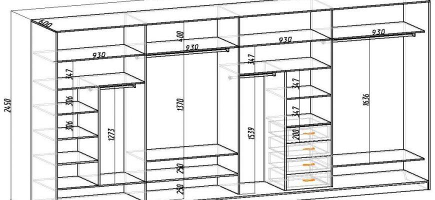 Оптимальные размеры шкафов-купе
